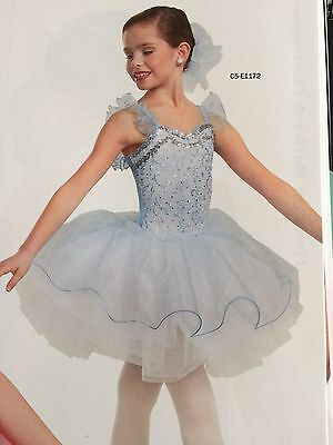 IN STOCK Pretty Blue Sequin Ballet Tutu Pageant Dress Dance Costume Child Large