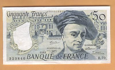 323840 Banknote France 50 Francs Vf/xf 1992 Free Shipping
