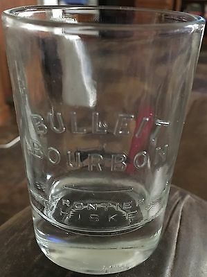 Bulleit Bourbon Frontier Whiskey Oval Shaped Glass *Nice*