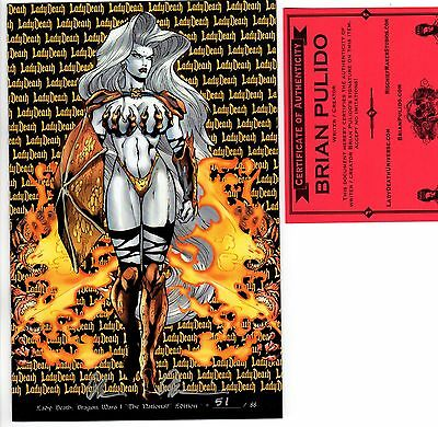 Lady Death Dragon Wars 1 The National edition 51/88 signed Pulido FREE UK POST