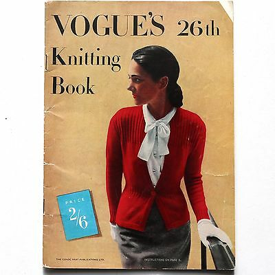 1944 vintage VOGUE'S 26th KNITTING BOOK 40s Vogue fashion knitwear
