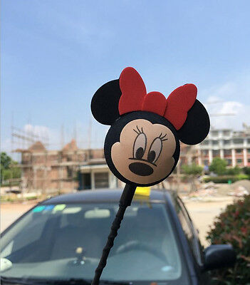 Cute Black Mickey Minnie Antenna Ball Car Aerial Ball Antenna Topper Decor Ball