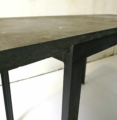 Table Basse Florence Knoll T-Angle Plateau En Pierre Fossile