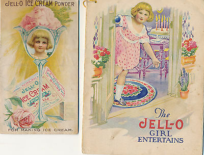 c1914 Rose O'Neill's Jell-O Girl Entertains and Ice Cream Powder Adv. Pieces