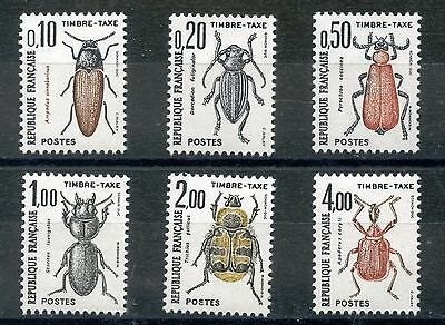 Stamp / Timbre De France Taxe Serie N° 103/108 ** Insectes / Coleopteres