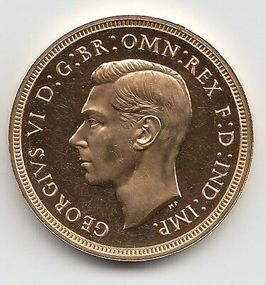 Rare 1937 King George Vi Proof Full Gold Sovereign Coin.
