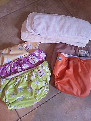 KaWaii Baby Cloth Diaper Lot - Includes Inserts & 2 EXTRA diapers!