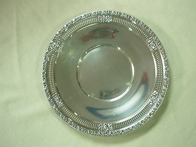 "Vintage Mueck Cary Sterling Silver ""royal Rose"" 10.25"" Reticulated Plate"