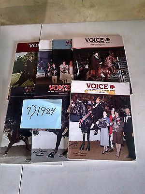 Vintage 1986  Voice of The Tennessee Walking Horse  Magazine (2)