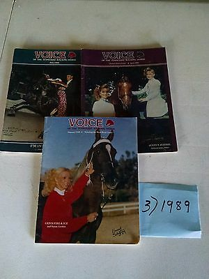 Vintage 1989  Voice of The Tennessee Walking Horse  Magazine (3)
