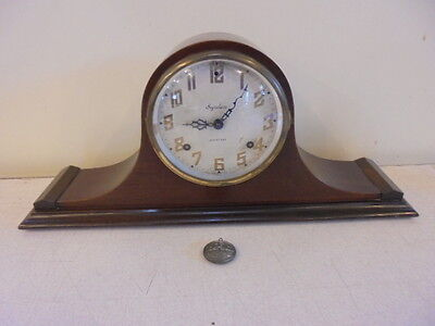 """Antique Ingraham """"Meteor 7 in"""" 8 Day Camelback Mantle Clock Non Working Parts"""