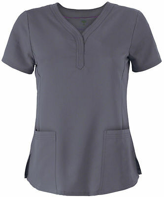 """Healing Hands Scrubs Style 2167 V-Neck Scrub Top in """"Pewter"""" Size XL"""