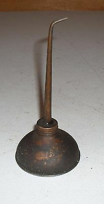 Small Antique Machine Shop - Garage Oiler Can / Oil Can / Pumper Tin Man Can