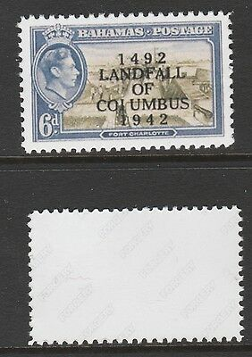 Bahamas 3066 - 1942 KG6  4d COIUMBUS ERROR  -  a Maryland FORGERY unused