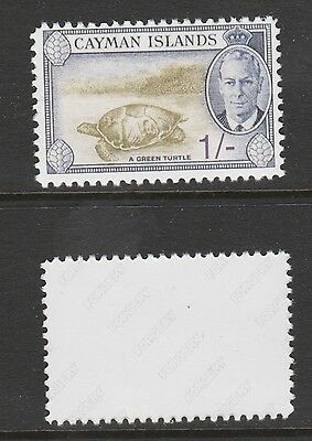 Cayman Islands 3064 - 1950 KG6 Green Turtle 1s -  a Maryland FORGERY unused