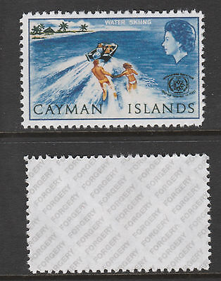 Cayman Islands 3070 - 1967 Tourism 4d MISSING GOLD -  a Maryland FORGERY unused
