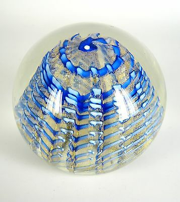 Murano Glas Briefbeschwerer Goldstaub Italy Glass Paperweight Goldust RARE