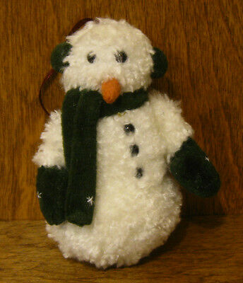 "Boyds Plush Ornament #56192 Bert Blizzard 3.5"" NEW From Retail Store, Snowman"