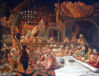 """""""THE DANCE"""" THE CELEBRATION BY WALTER GOULD 19thC ORIENTALIST PAINTING"""