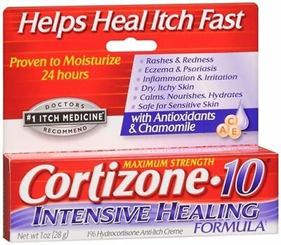 Cortizone 10 Hydrocortisone Anti-Itch Intense Healing Cream 1 oz