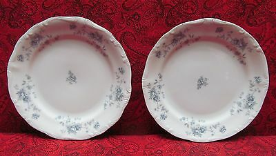 Vintage Johann Haviland Bavaria Germany Blue Garland Flowers Bread Butter Plates