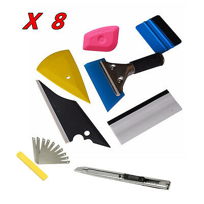8x Squeegee Car Body Window Tinting Wrap Film Install Wrapping Applicator Tools
