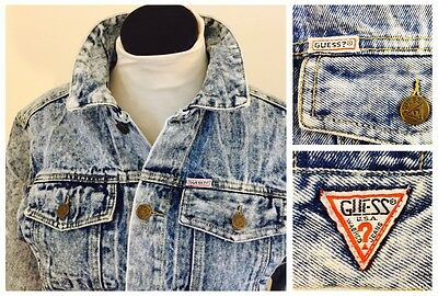 Girl's Vintage Guess Georges Marciano Acid Washed Jean Jacket Size 14