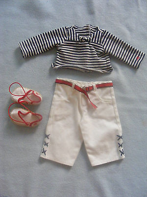 Retired American Girl Just Like You Doll Clothes Beach Outfit And Shoes Set Lot