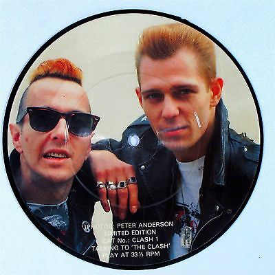 """Rare Limited Edition THE CLASH Talking To The Clash 7"""" PICTURE DISC VG+"""