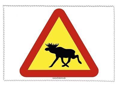 Attention Moose - Sweden - Glasses Cleaning Cloth Microfibre