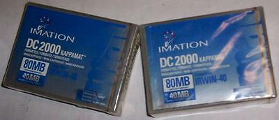 2 Imation DC2000 Data Tape 40/80 MB-New,Sealed-FOR:Irwin 40,80,QIC-40,100-NEW-NR