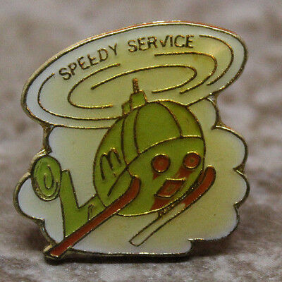 McDonalds Speedy Service Helicopter Collectible Pinback Pin Button