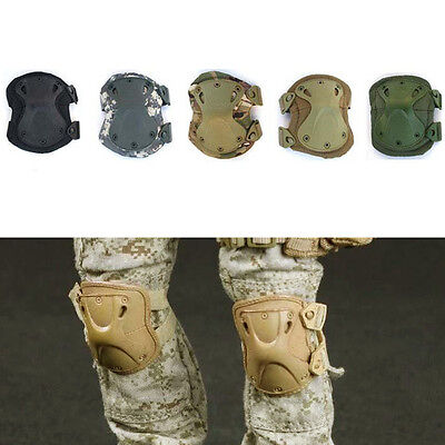 4pcs Protective Tactical Military Combat Knee Support & Elbow Pads Set Airsoft