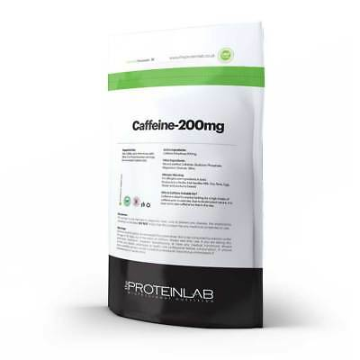 Caffeine Tablets 200mg Energy Boost Pills Slimming Pre workout Fat Loss Aid 500