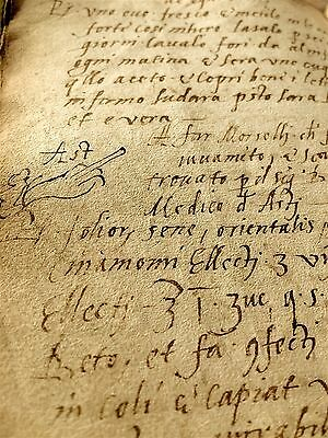 Antique Manuscript 1500 Renaissance Pagan Medicine Plague Various Secrets Rarity