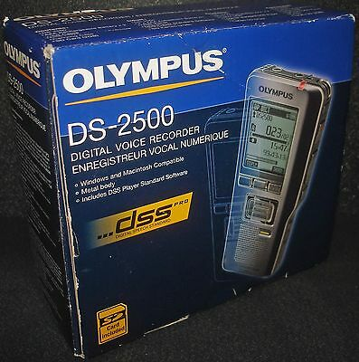 Olympus DS-2500 Digital Voice Recorder  ~New~