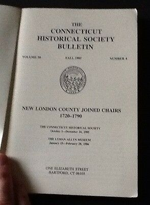 New London County Joined Chairs 1720-1790. Connecticut Historical Society Bullet