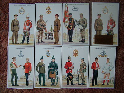 THE BRITISH ARMY SERIES - THE KINGS DIVISION.  7 card set. Mint condition.