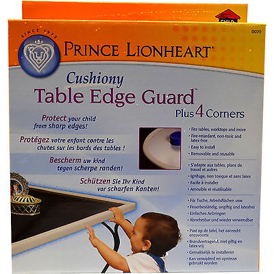 Prince Lionheart Table Edge Guard with Four Corners Cream/Natural