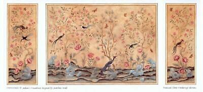 Dolls House Chinoiserie Miniature Print 1:24 Scale Wallpaper Panels