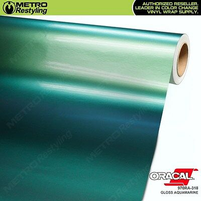 ORACAL 970RA-318 GLOSS AQUAMARINE Vinyl Vehicle Car Wrap Decal Sheet Film Roll