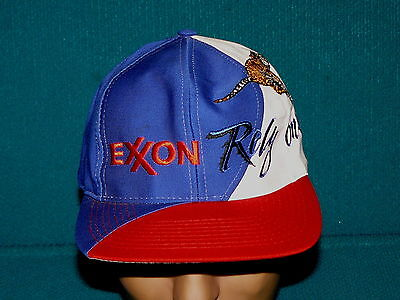 """Retro! EXXON """"Rely on the Tiger"""" BALL CAP @ Embroidered SNAPBACK hat"""