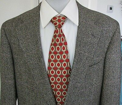 Polo University Club by Ralph Lauren Grey Tweed Wool Jacket Coat 40L Two Button