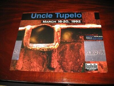UNCLE TUPELO / WILCO rare promotional poster March 16-20 NEW full color