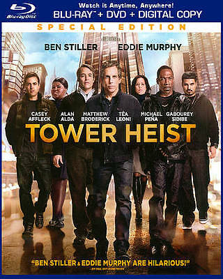 TOWER HEIST (Blu-ray/DVD, 2012, Special Edition Includes Digitall) NEW