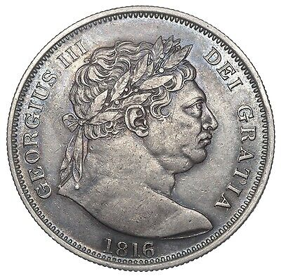 1816 Halfcrown - George Iii British Silver Coin - V Nice