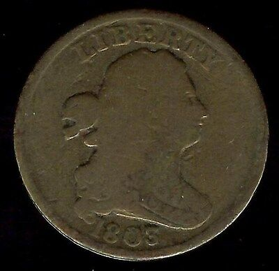 1803 Draped Bust Half Cent  Vg