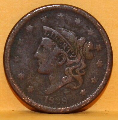 1838 Large Cent Coin #C68E