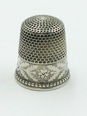 Vintage Sterling Silver 925 Sewing Thimble Size 9 Engravable