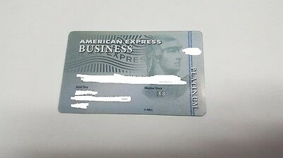 American Express Business Platinum Expired Credit Card
